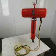 CM Lodestar RR Electric Chain Hoist 2 Ton 16FPM 20' Lift 208-230/460V