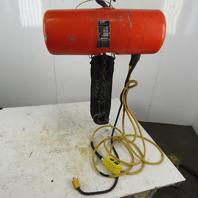 CM Lodestar Model J Electric Chain Hoist 1/2Ton 32FPM 20' Lift 120V Single Phase