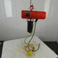 CM Lodestar Model AA 1/8 Ton Electric Chain Hoist 60FPM 20' 120V Single Phase