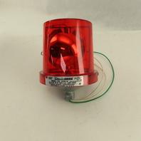 Federal Signal 225-120R Red Warning Alarm Rotating Beacon Light 120V
