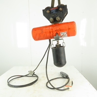 CM Lodestar Model F 1 Ton Electric Chain Hoist 10' Lift 16FPM 230/460V W/Trolley
