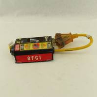 Woods Yellow Jacket No 2816 GFCI Quad Inline Power Block Jobsite Tool 15A