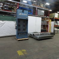 Airflow Systems Inc. DCB1-PG6-Regain Open Front Dust Control Booth 8'Wx8D'x8'H