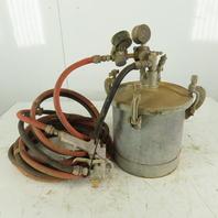 Binks 83-5668 2.8 Gallon Paint Sprayer Pressure Pot W/ Gun and Hoses
