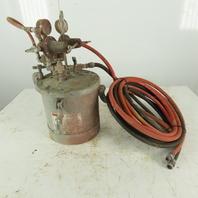 Binks 2.8 Gallon Paint Sprayer Pressure Pot Agitator  W/ Gun and Hoses