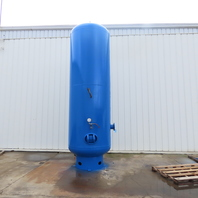 """Vertical Compressed Air Receiver Tank 2000 Gallon 150 PSI WP 6"""" Flanged Ports"""