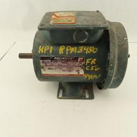 Reliance P56H1303S-TR 1Hp 3450RPM 3Ph 208/460V EC56 Frame Electric AC Motor