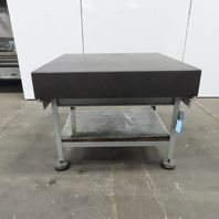 """Micro Flat 48 x48""""x8"""" Thick Gray Granite Surface Plate Inspection Table W/Stand"""