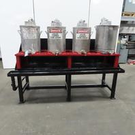 4 Pot/Tank Paint Mixer Stand Dispensing Station