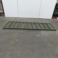 """Roach 40-1/4x120"""" Gravity Roller Conveyor 37""""BF 2.50 Dia Rollers 9 & 10"""" Centers"""