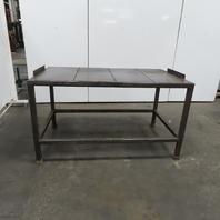 """10ga Thick Top Steel Fabrication Layout Welding Table Work Bench 67-1/4""""x39""""x38"""""""