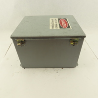 """Hoffman A12108Ch Electrical Enclosure 12""""x10""""x8"""" W/Back Plate Type 12,13"""