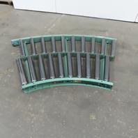 "Roach 40-1/4"" Gravity Roller 45° Curve Conveyor 37"" BF 2.50"" diam. Rollers"