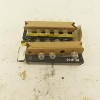 Philips 1850 Miniature Light Bulb 5V .09A Lot Of 16