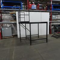 "Custom Fab Stationary Look Over Mezzanine Ladder Platform 64"" x 104"" x 70"" Tall"