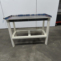 """49""""x 24""""x 36"""" Tall Steel Top Work Assembly Bench With Edge Guards"""