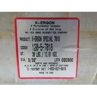 "X-Ergon 120-5-7018 30lbs 7018 Welding Electrode Rods 3/32"" Dia USA"
