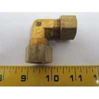 "Parker 165C-10 5/8x5/8"" 90 Degree Union Elbow Compression Fitting Brass"