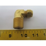 "Imperial 90135 69x6x8 3/8x1/2"" 90 degree Male Elbow Brass Compression Fitting"