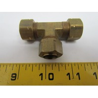 "Parker Triple-Lok 164CA-8 1/2"" Union Tee Compress-Align Brass Fitting"