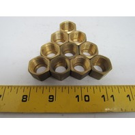 "Parker Triple-Lok 61C-8 1/2x11/16"" Brass Compression Fitting Nut Lot of 10pcs"