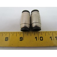 Numatics N100-010-000 Push-In Connector Union Tube Fitting 10mm 2pcs