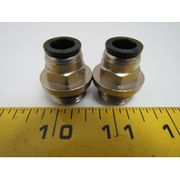 "Numatics N102-010-003 Push-In Connector Straight Male 10mm x G 1/2"" BSPP"