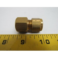 "Imperial 1/2x3/8"" NPT Female Tube Connector Compression Fitting Brass"