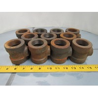 "1-1/4x1-1/4x1/2"" NPT Cast Iron Black Pipe Reducing tee Class 125 USA Lot of 11"