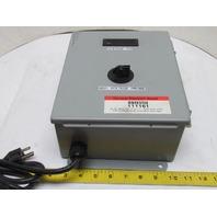 Electrical Enclosure Box w/Simpson M235-1-0-14-0 Voltage Meter 3.5 Digit LCD