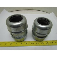 "Quick-Joint Coupling 1-1/2""Dia 4""L Steel Compression Pipe Fitting Schedule 40"