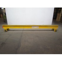 14' Span 1/4 Ton 500lb Single Girder Under Hung Bridge Crane w/Push Type Trolley