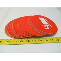 "Fire Extinguisher Safety Orange Decal Label Sticker 6"" Dia App OSHA Lot of 78 pc"