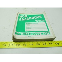 "Brady 60453 Non-hazardous waste label 6"" x 6"" vinyl safety sticker lot of 81"