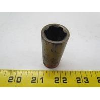 """Cooper Apex SF-15MM23 15 mm 6-Point 3/8"""" Drive Semi-Deep Well Metric Socket"""