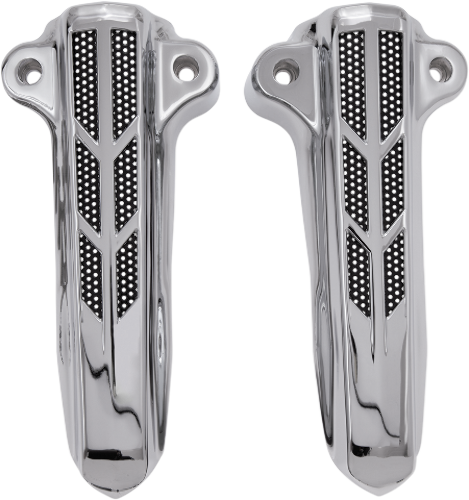 Ciro Chrome Lower Fork Leg Covers 14-19 Harley Touring Bagger FLHR FLTRU FLHT