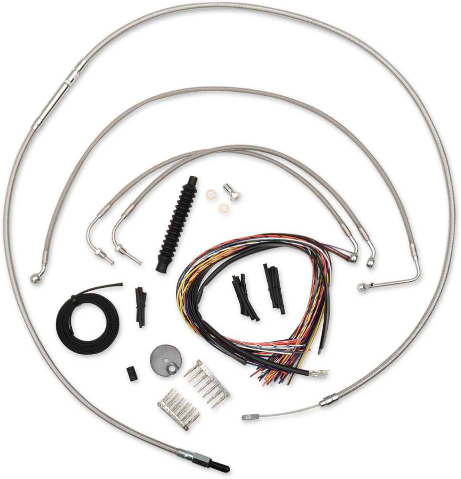 Harley-Davidson stainless Clutch Cable for Harley 08-13 Touring