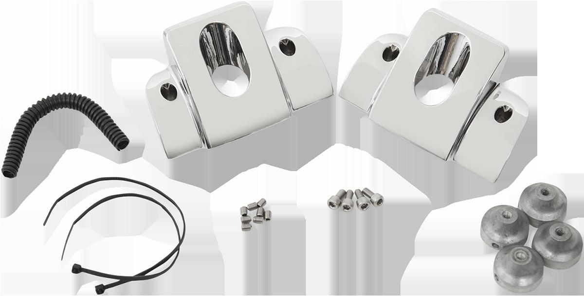 Drag Specialties Chrome Spark Plug Cover Kit 99-17 Harley Dyna Touring Softail