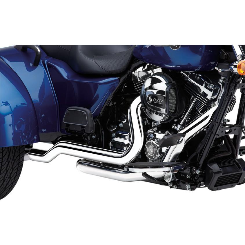 Cobra Chrome Power Port Dual Motorcycle Head pipes 10-16 Harley FLRT FLHTCUTG