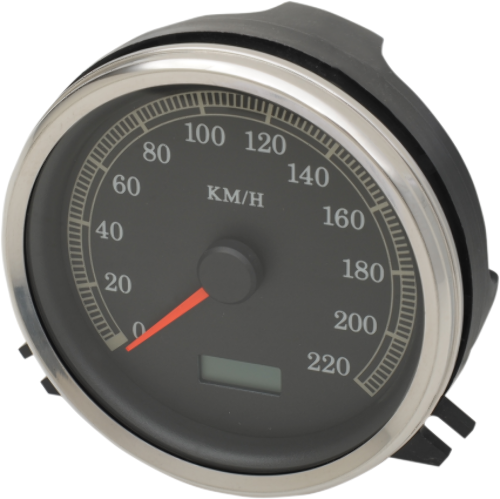 Drag Specialties Electronic KMH Speedometer KPH 96-03 Harley Touring FXST FLST