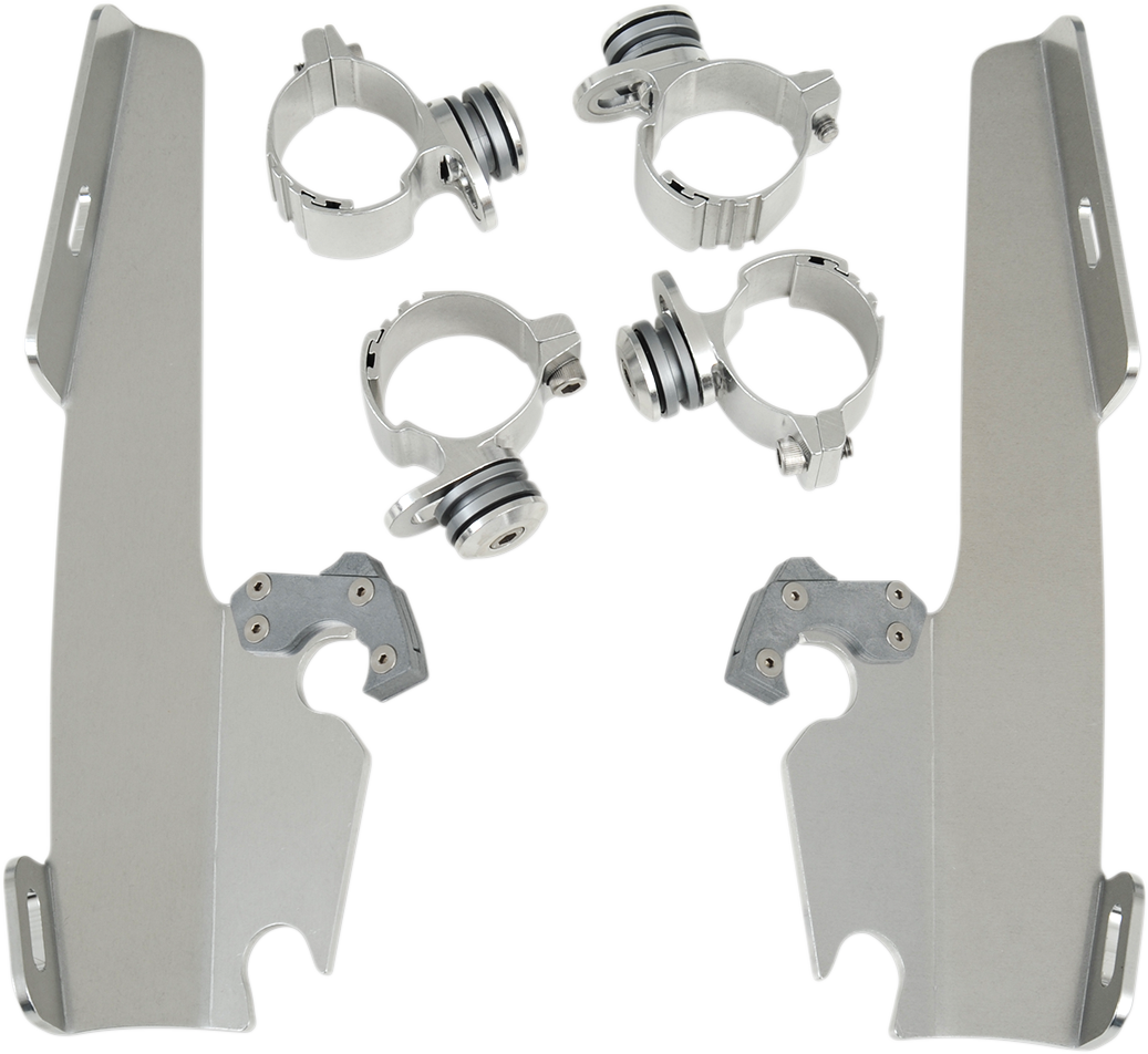 Memphis Shades Trigger Lock Windshield Mounting Kit 73-19 Harley DYNA XL FX FXD