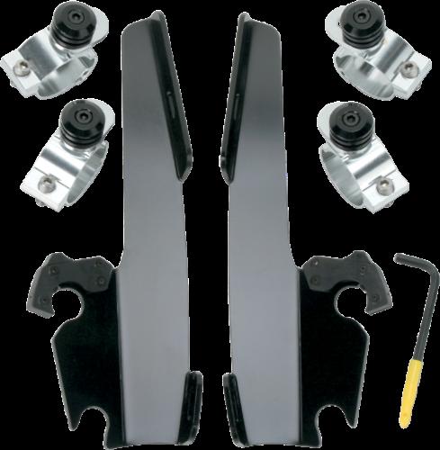 Memphis Shades Black Trigger Lock Fairing Mounting Kit 73-19 Harley Dyna XL FXR