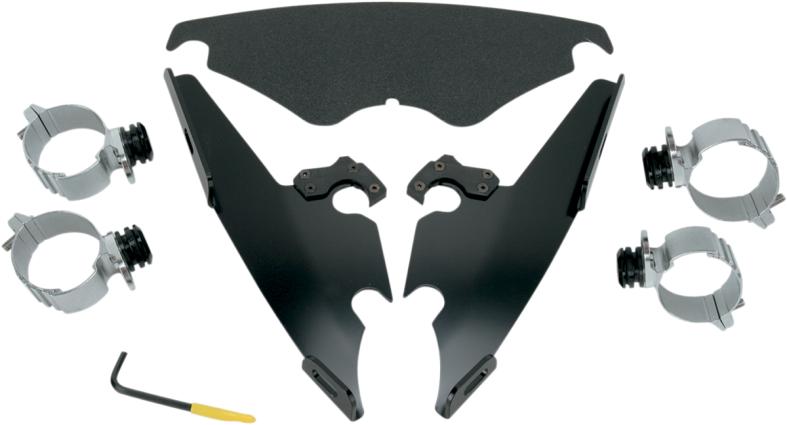 Memphis Shades Black Windshield Trigger Lock Mounting Kit 02-11 Harley VRSCD