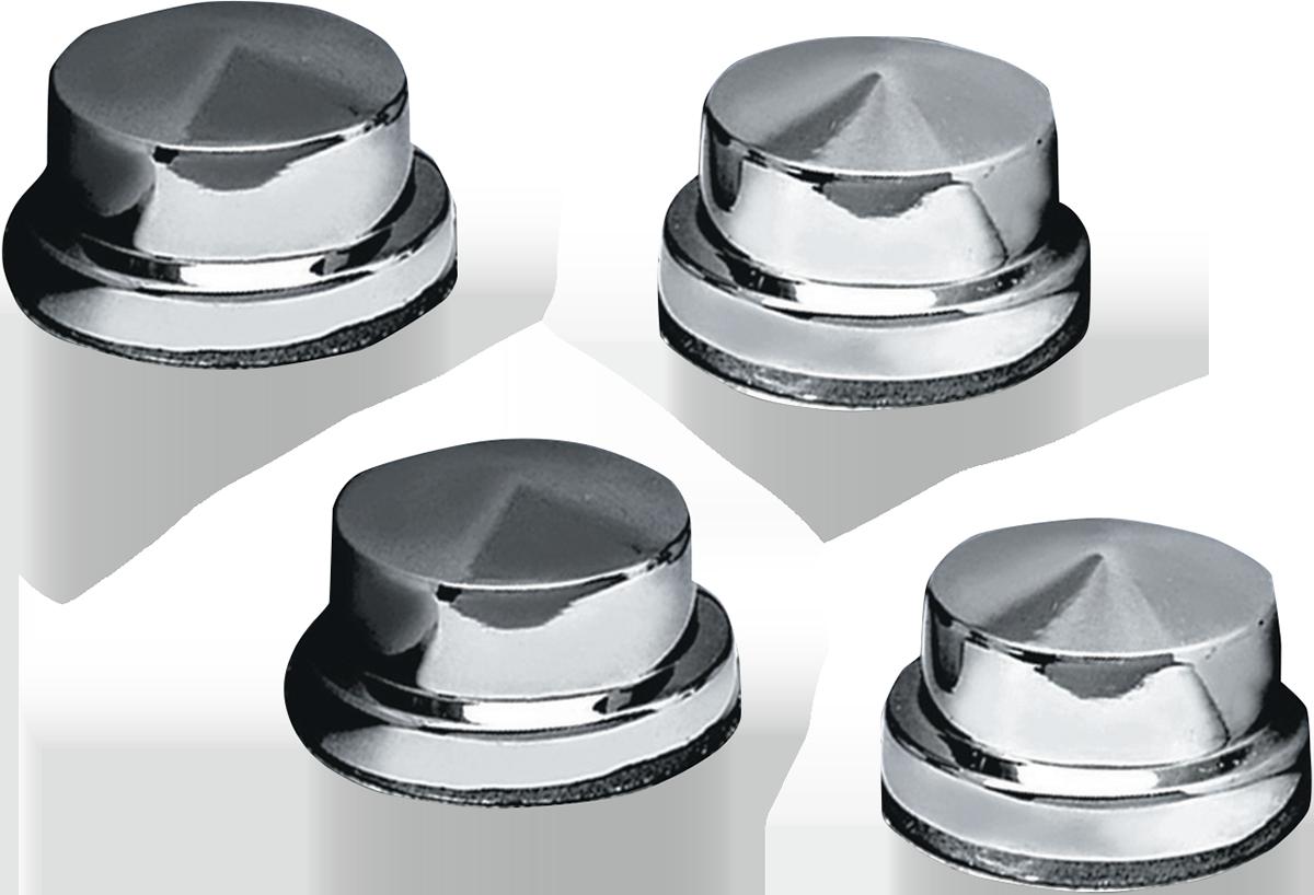Kuryankyn Chrome 4 Pack Head Bolt Covers for 86-18 Harley DYNA Softail Touring