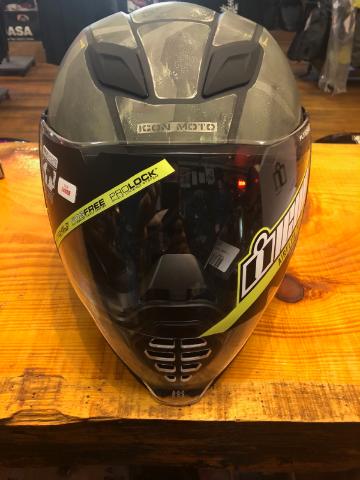 Icon Unisex Krom Airflite Full Face Gloss Motorcycle Riding Street Racing Helmet