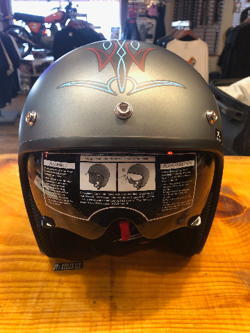 Z1R Saturn Flying Retina Motorcycle Riding Street Unisex 3/4 Riding Helmet