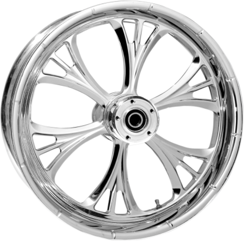 """RC Components Majestic Chrome 23"""" ABS Dual Disc Front Wheel 08-17 Harley Touring"""