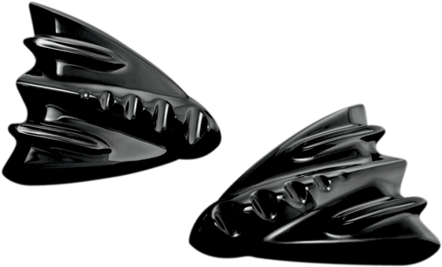 Motorrad Hupen Cover IronCross Black für Harley-Davidson Street Glide 1687