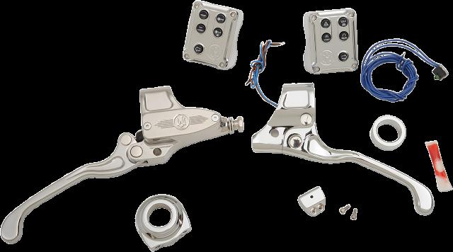 "PM Chrome Mechanical 9/16"" Handlebar Control Kit for 11-18 Harley Softail XL FXS"
