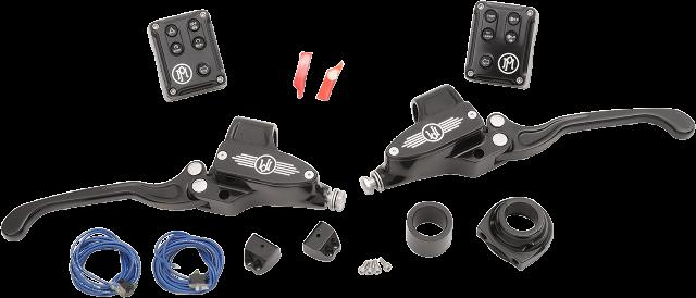 """PM Black Hydraulic 9/16"""" Handlebar Control Kit for 11-18 Harley Softail XL FXS"""
